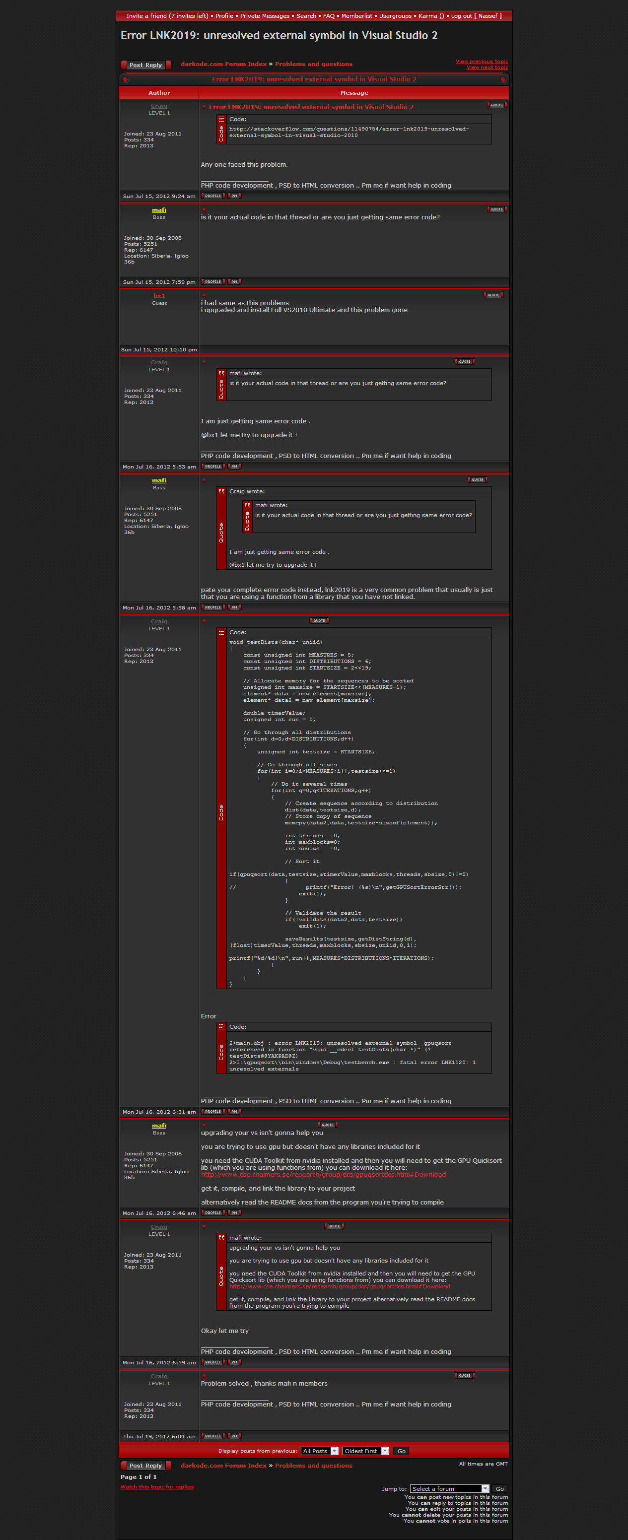 Darkode repository index of error lnk2019 unresolved external symbol in visual studio 2g biocorpaavc